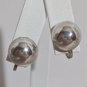 Vintage Sterling Silver 925 Screw Back Earrings